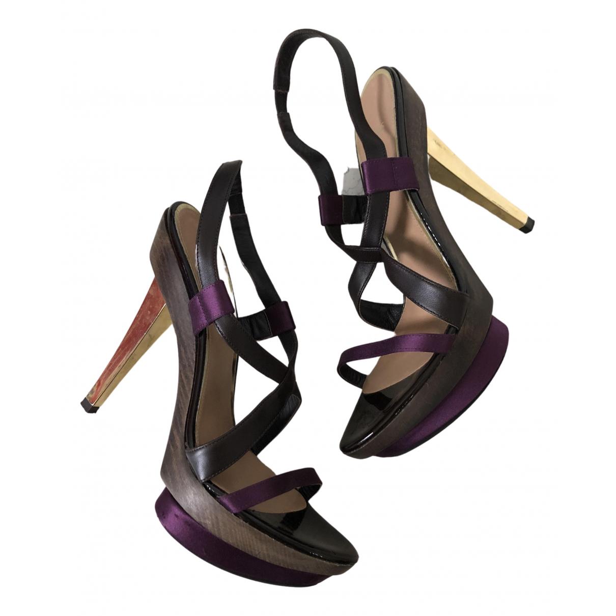 Hugo Boss N Multicolour Fur Sandals for Women 38 EU