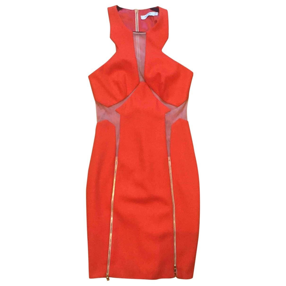 Three Floor Fashion \N Kleid in  Orange Wolle