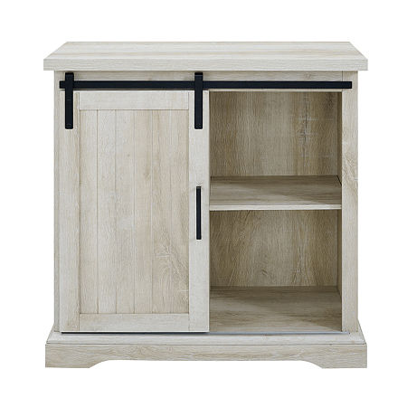 Modern Farmhouse Buffett Storage Cabinet, One Size , White