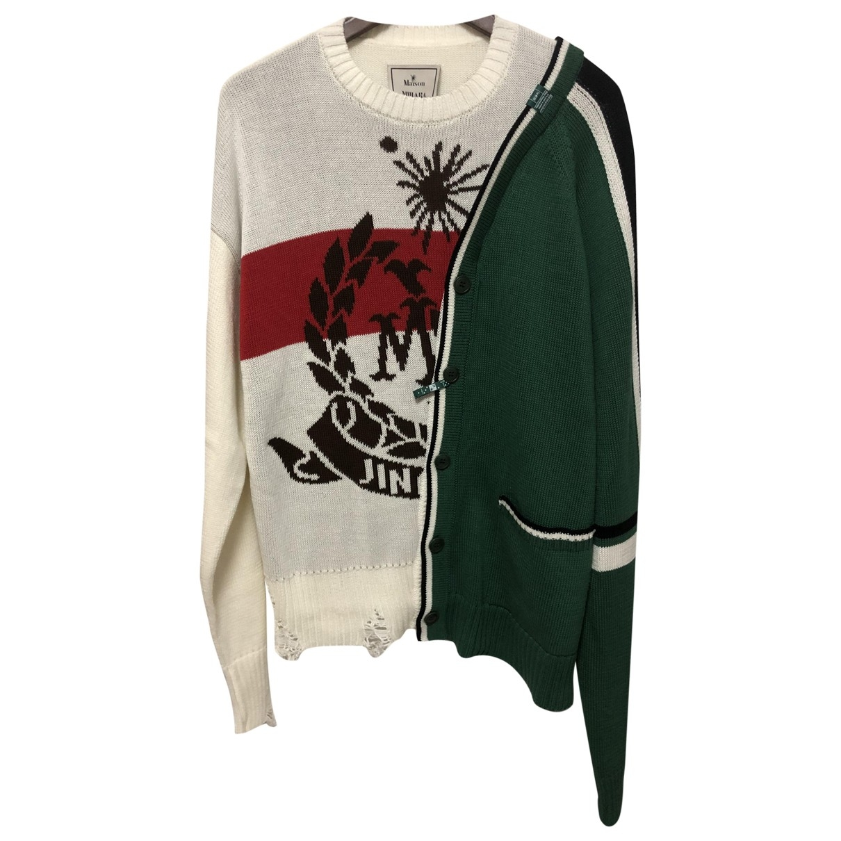 Miharayasuhiro \N White Cotton Knitwear & Sweatshirts for Men 48 FR