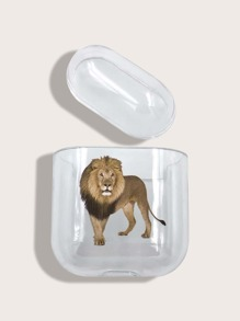 Lion Print Clear Airpods Case