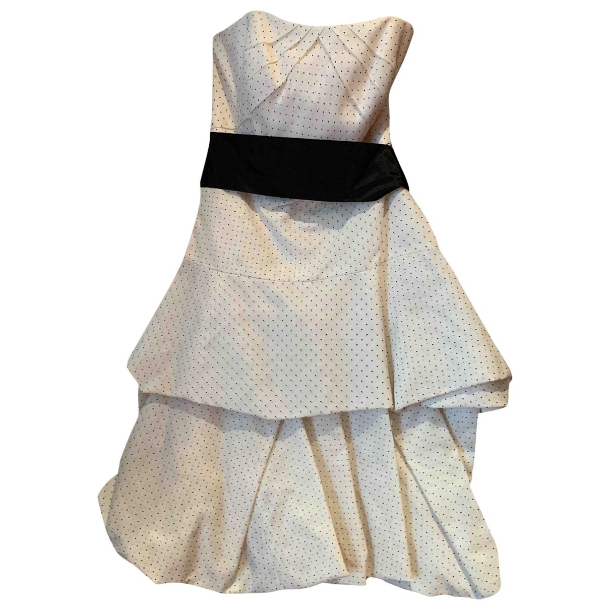Monique Lhuillier - Robe   pour femme en soie - blanc