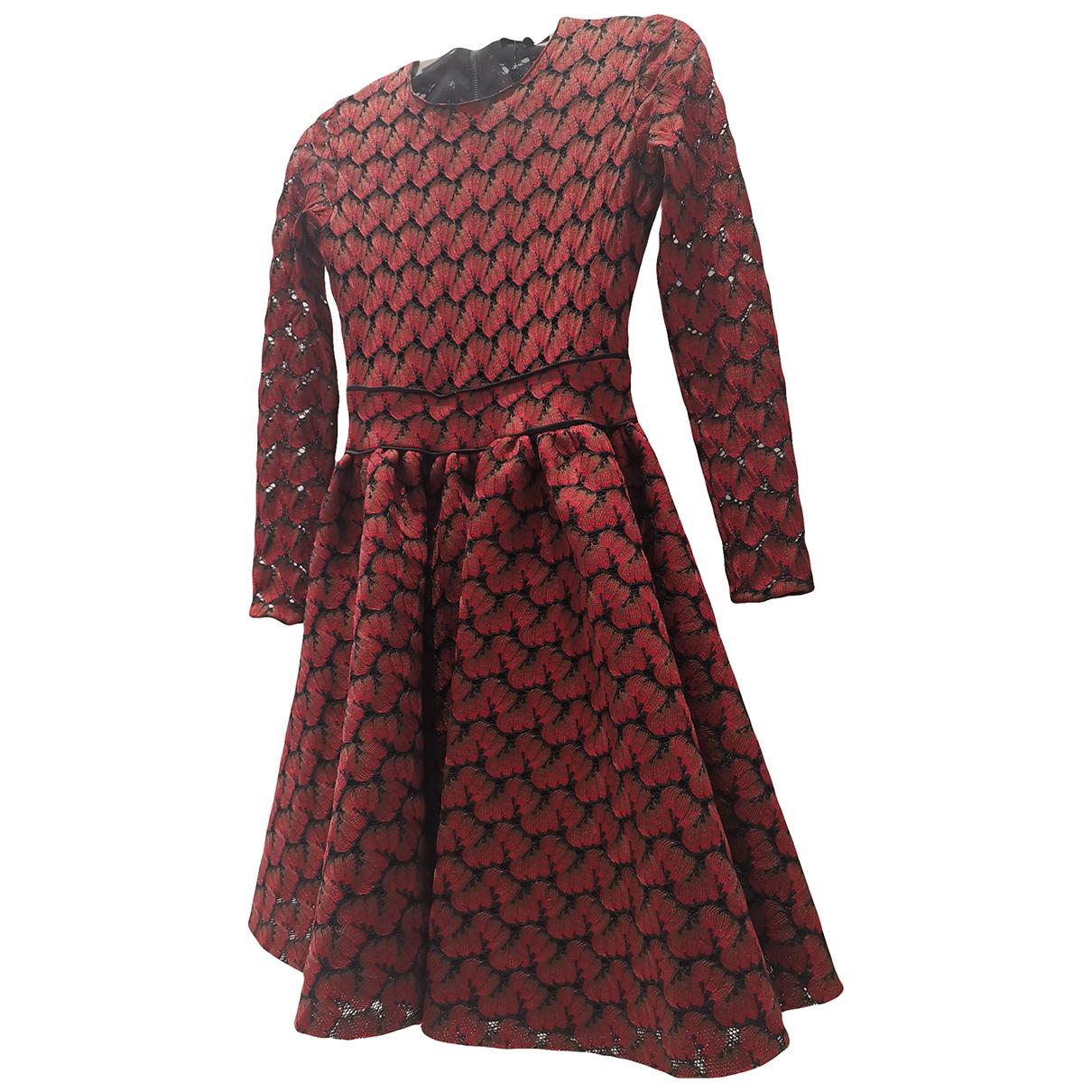 Maje Fall Winter 2019 Kleid in  Rot Baumwolle