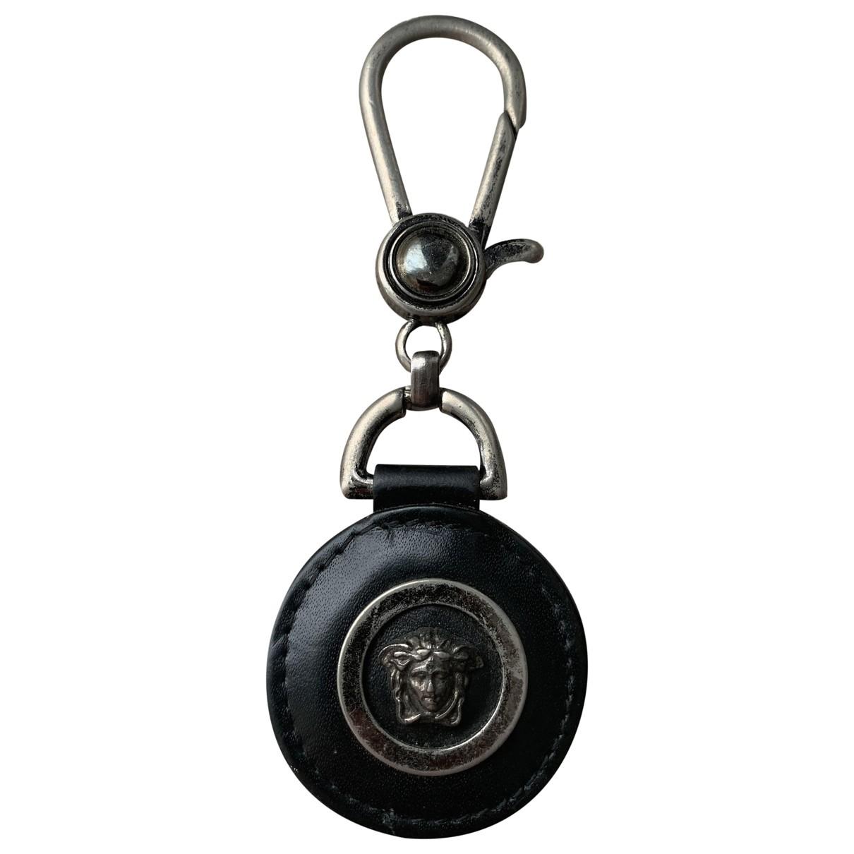 Gianni Versace - Bijoux de sac   pour femme en cuir - noir