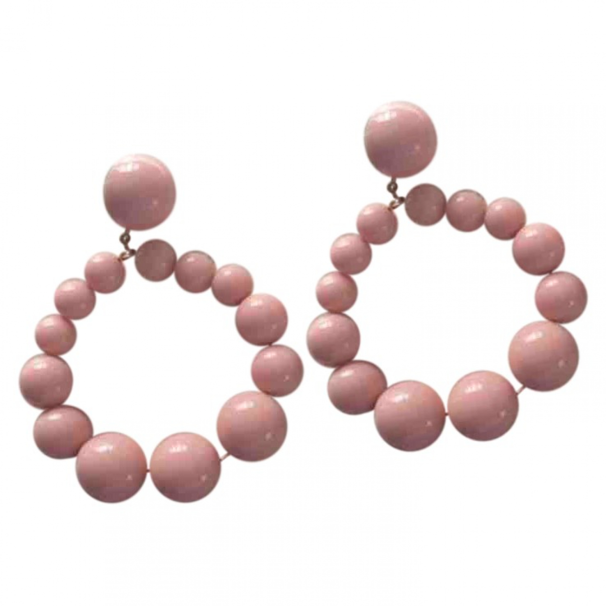 Sezane \N OhrRing in  Rosa Metall