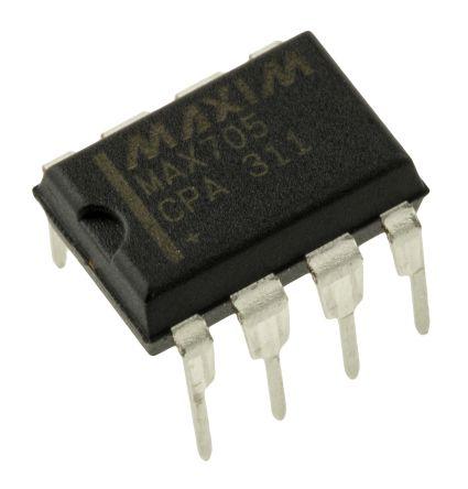 Maxim Integrated MAX705CPA+, Processor Supervisor 4.65V , WDT, Reset Input 8-Pin, PDIP (50)
