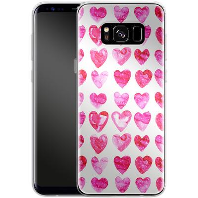 Samsung Galaxy S8 Silikon Handyhuelle - Heart Speckle von Amy Sia
