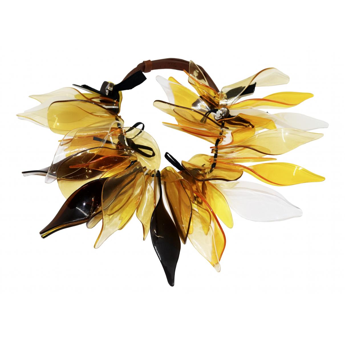 Marni For H&m \N Kette in  Gelb Kunststoff