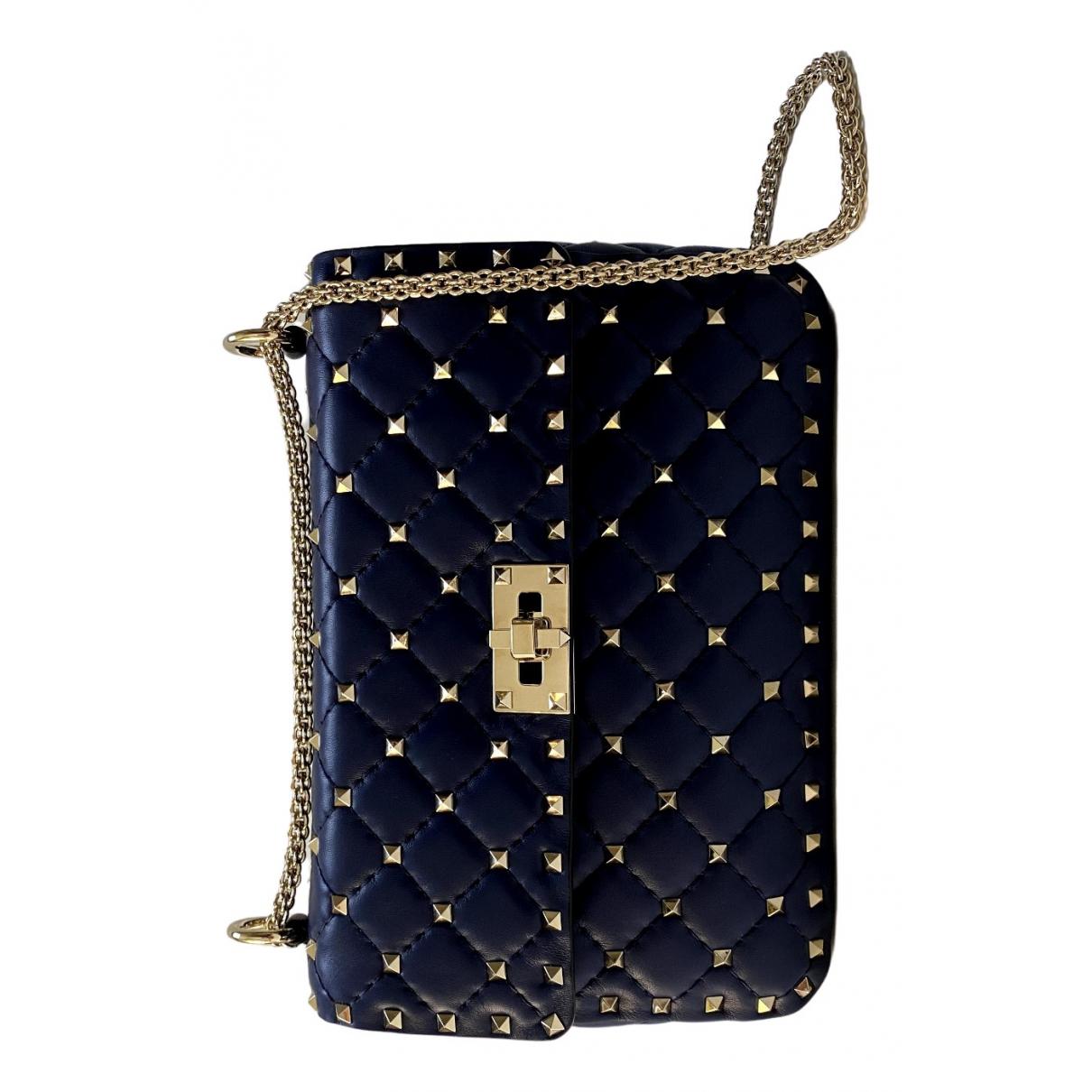 Valentino Garavani Rockstud spike Blue Leather handbag for Women \N