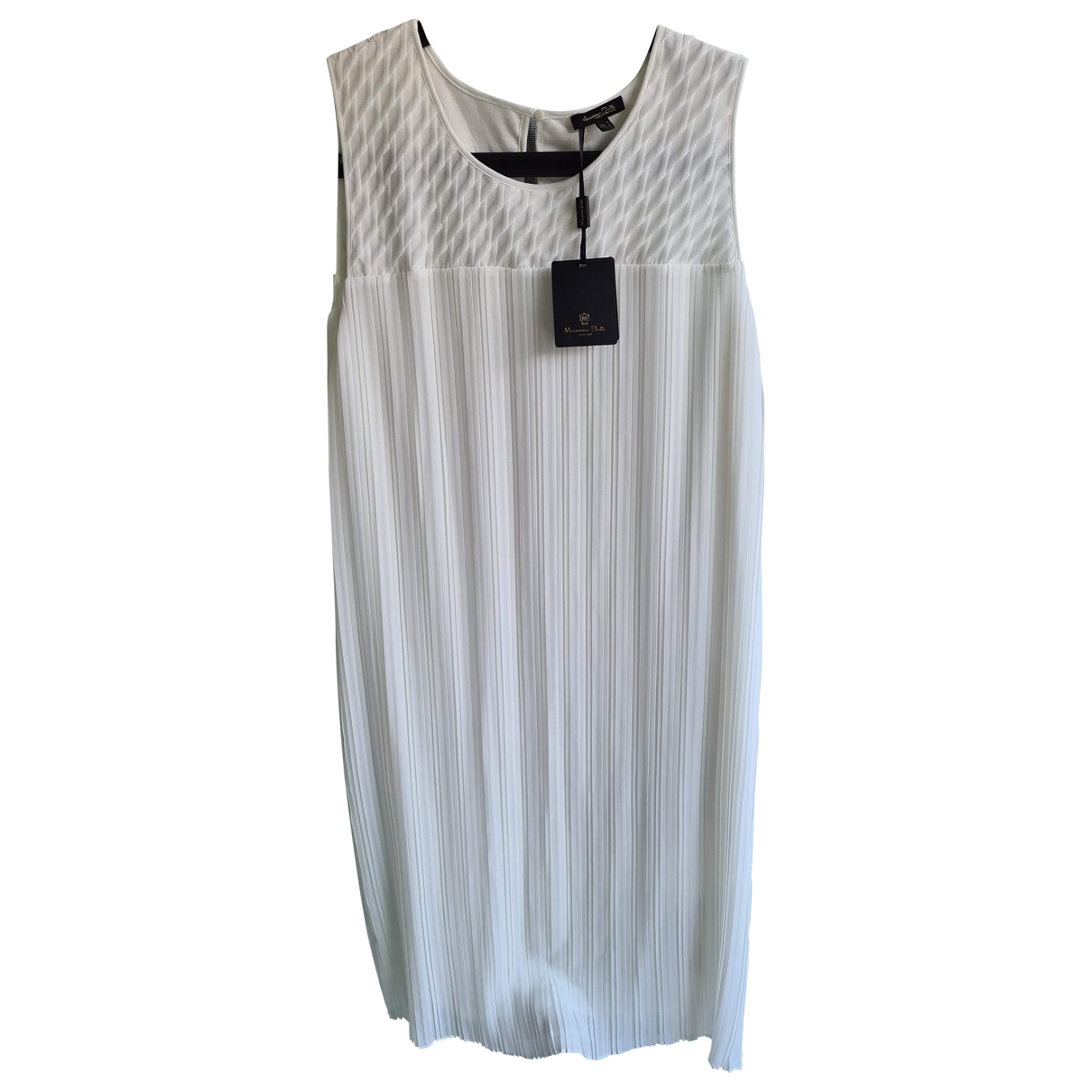 Massimo Dutti \N Kleid in  Weiss Polyester