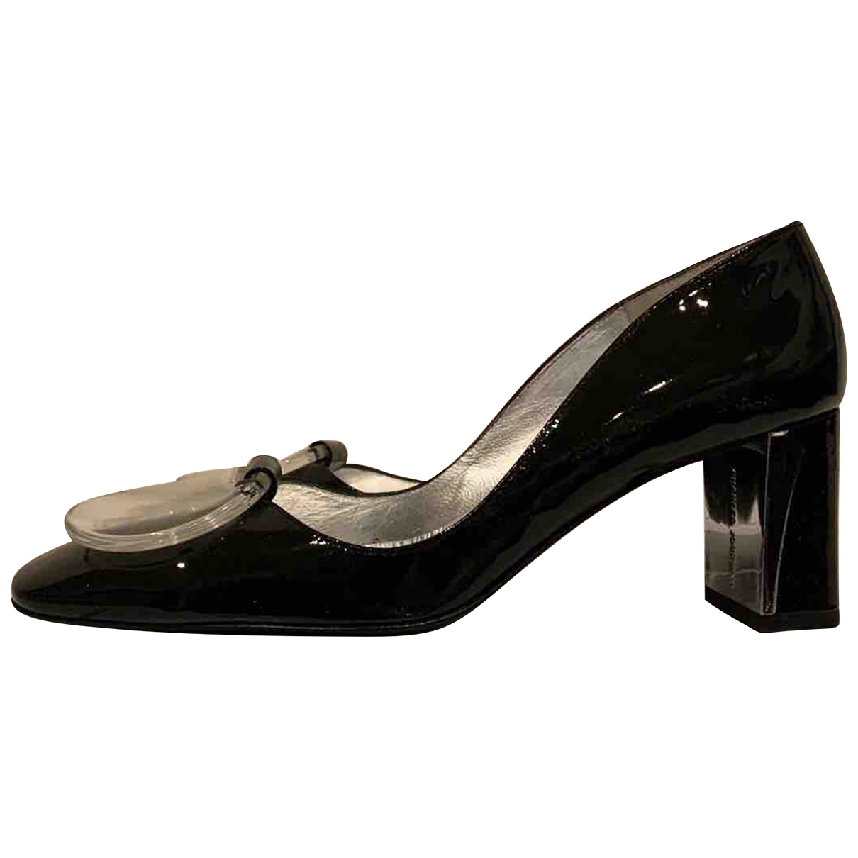Charles Jourdan \N Black Patent leather Heels for Women 37 EU