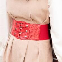 Studded Decor Wide Belt