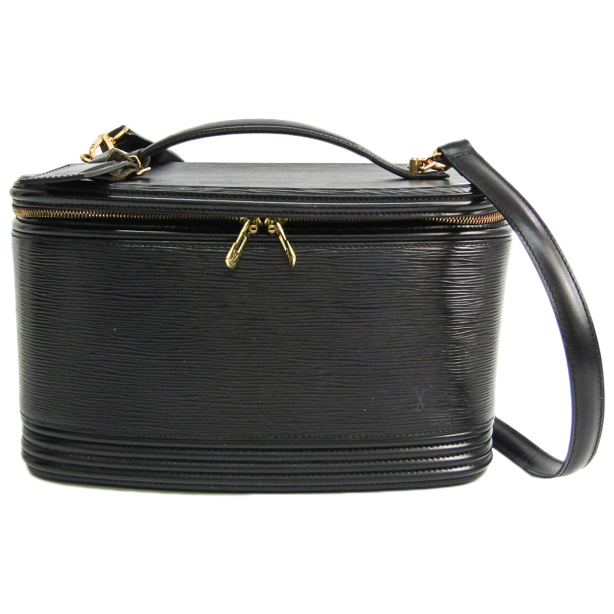 Louis Vuitton Nice Black Leather Travel bag for Women \N