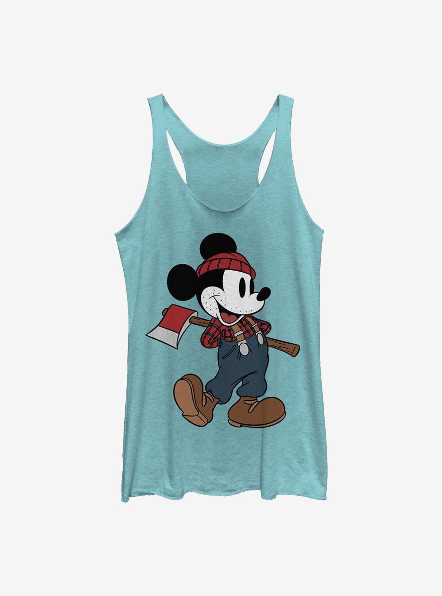 Disney Mickey Mouse Lumberjack Mickey Womens Tank Top