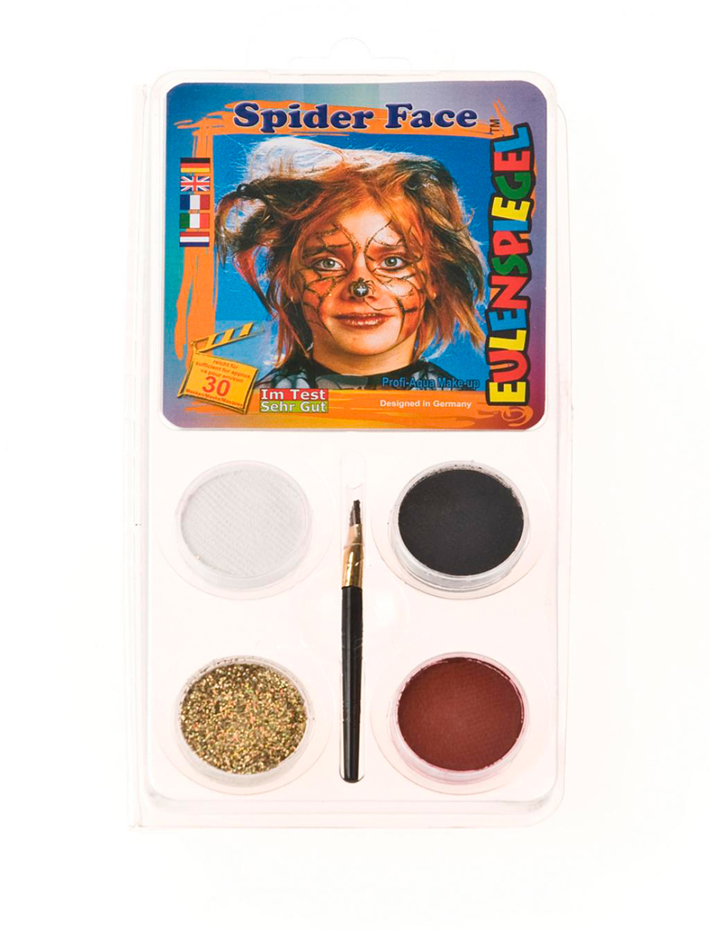 Aqua-Set Spiderface Schminke fuer Karneval & Fasching
