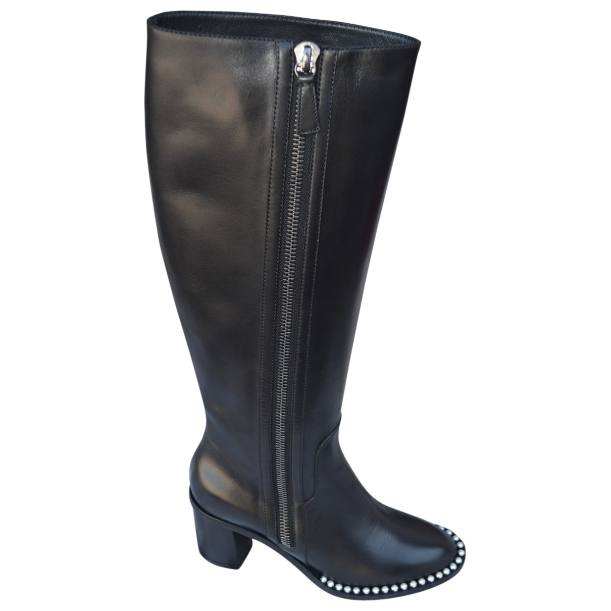 Casadei N Black Leather Boots for Women 8 US
