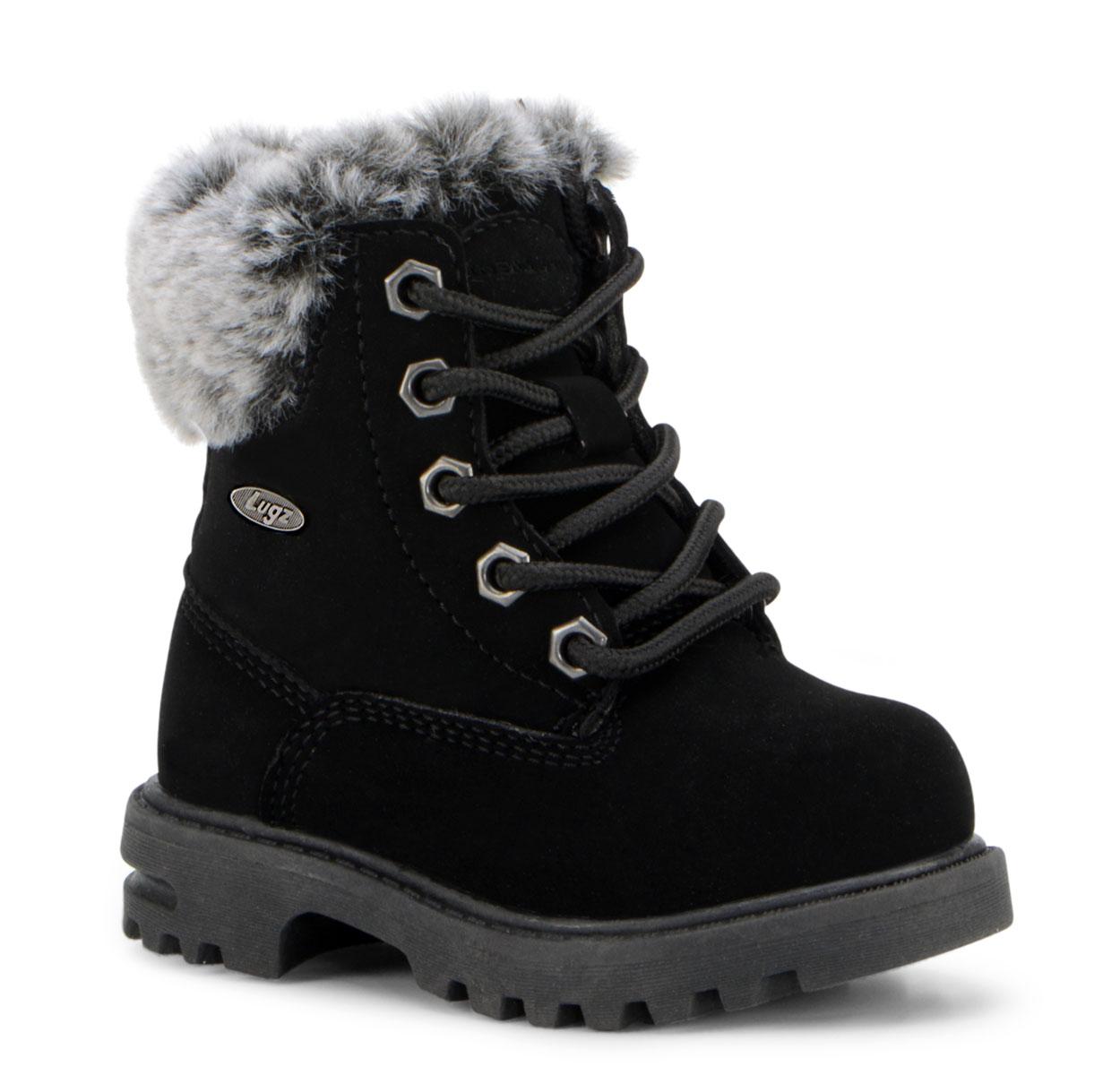Toddler Empire Hi Fur 6-Inch Boot (Choose Your Color: BLACK, Choose Your Size: 7.0)