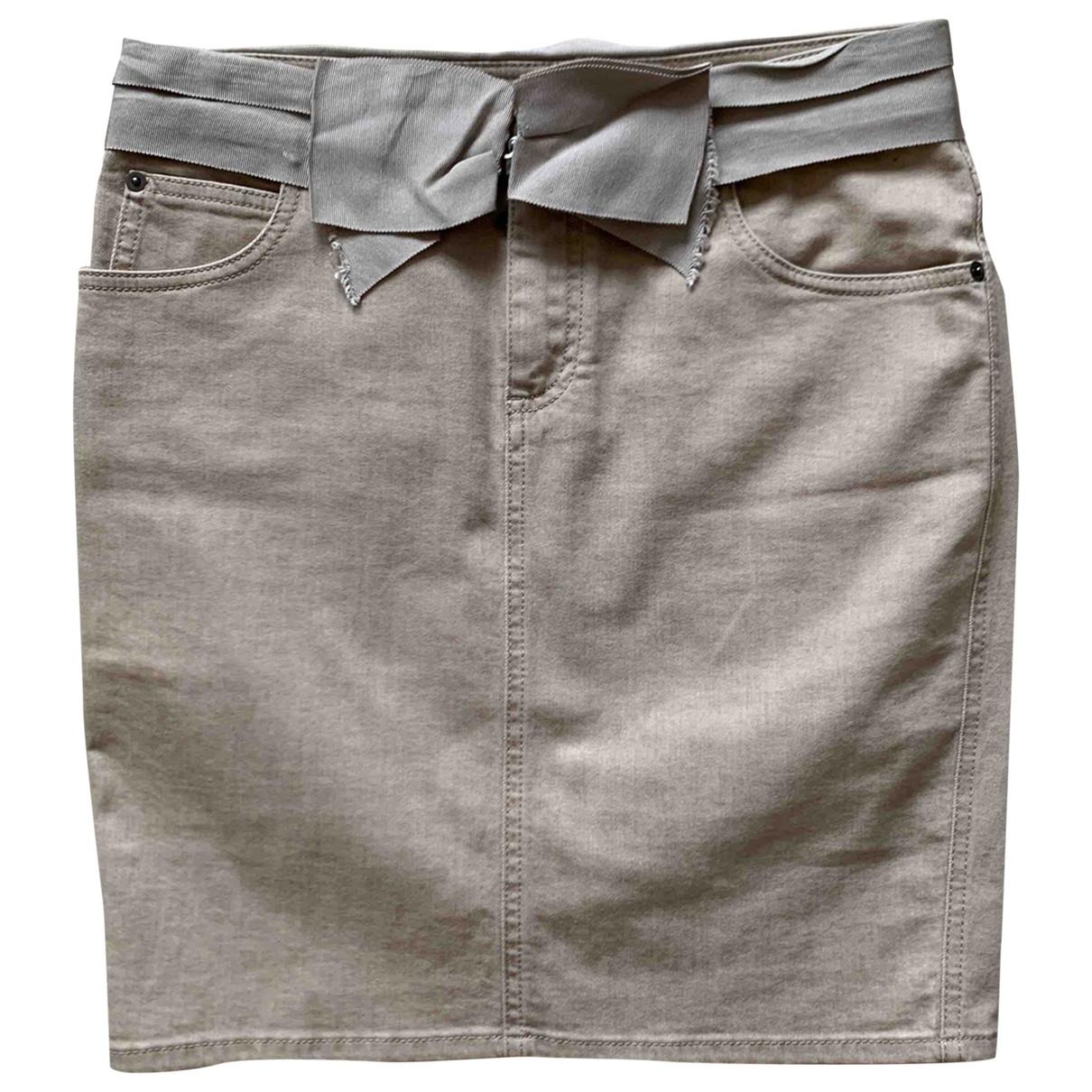 Lanvin - Jupe   pour femme en coton - elasthane - beige