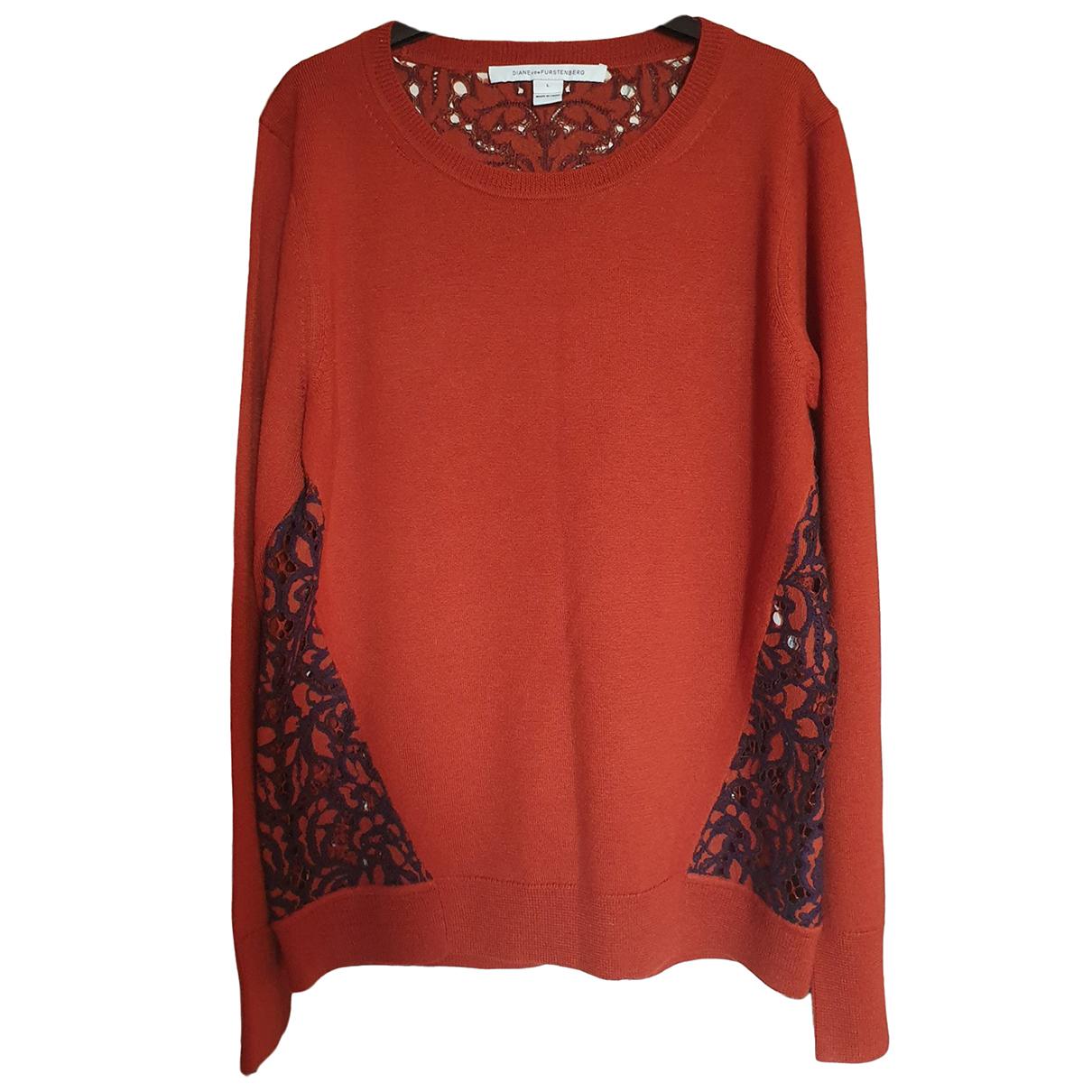 Diane Von Furstenberg \N Red Wool Knitwear for Women L International