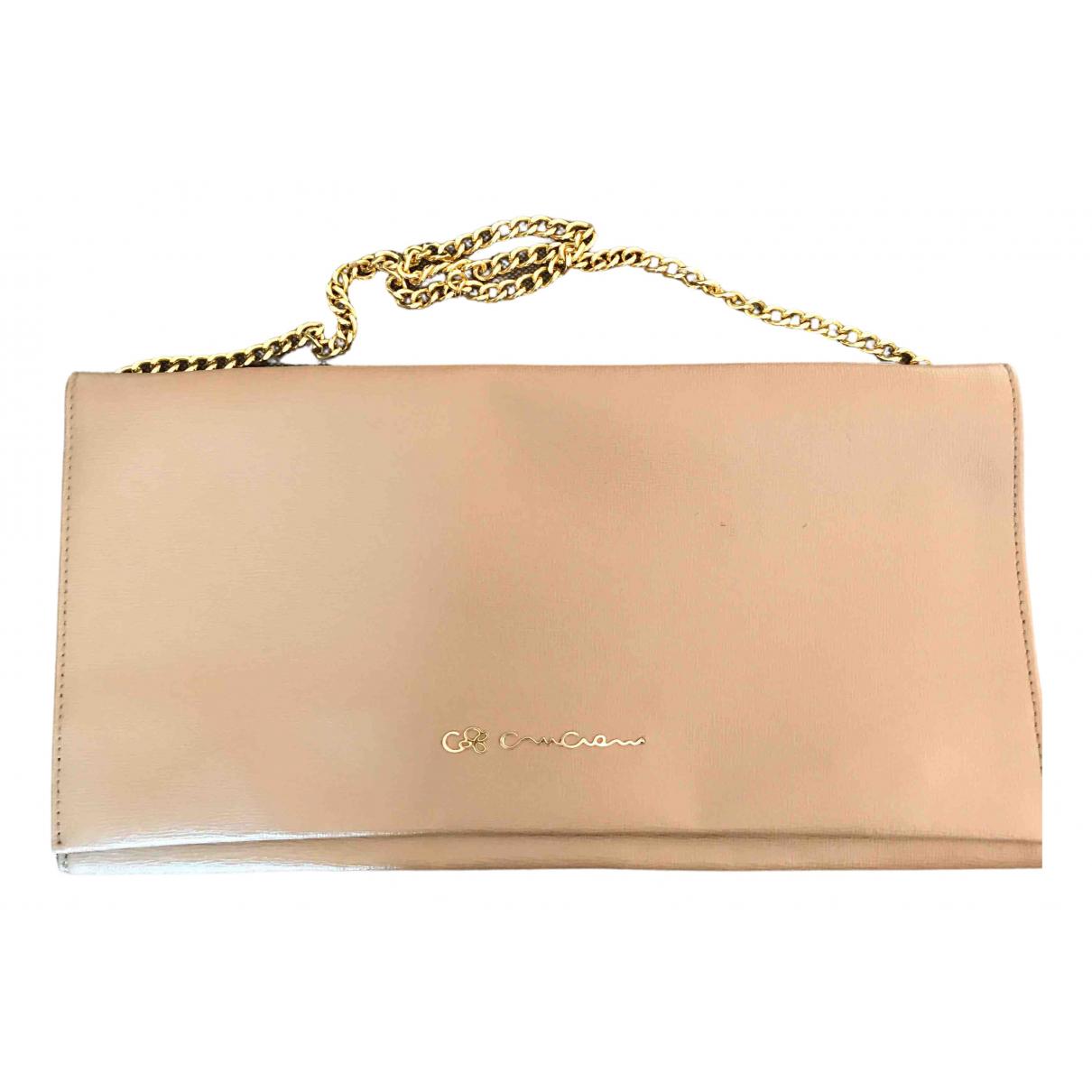 Cruciani \N Handtasche in  Ecru Leder