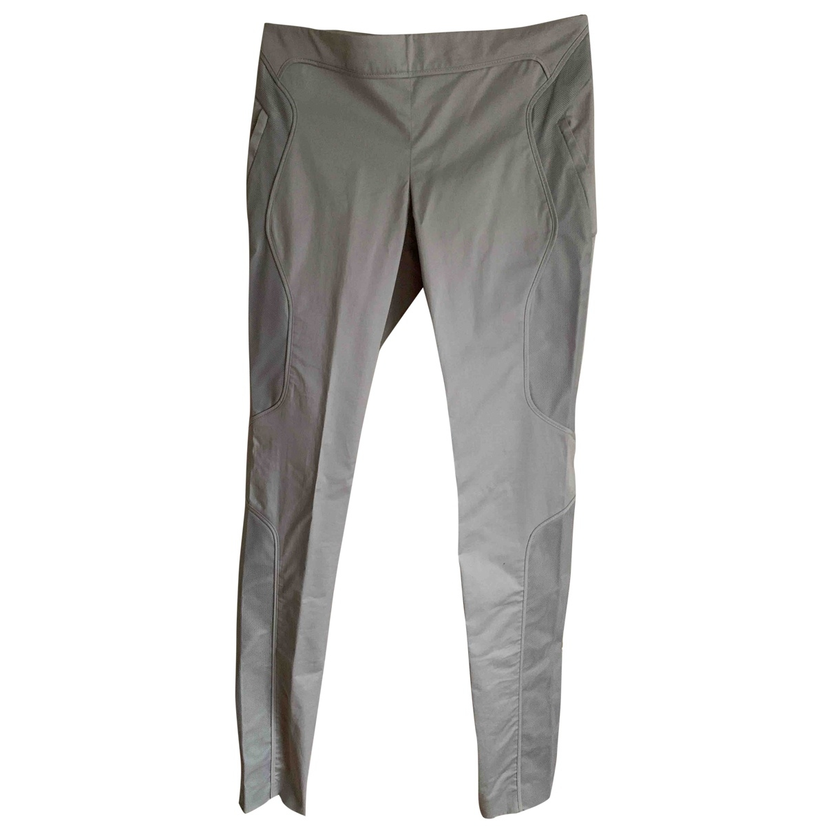 Gucci \N Grey Cotton Trousers for Women 38 IT