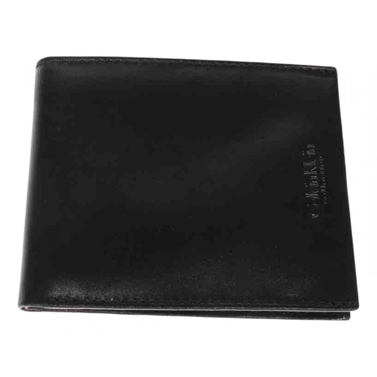 Calvin Klein Collection - Petite maroquinerie   pour homme en cuir - noir
