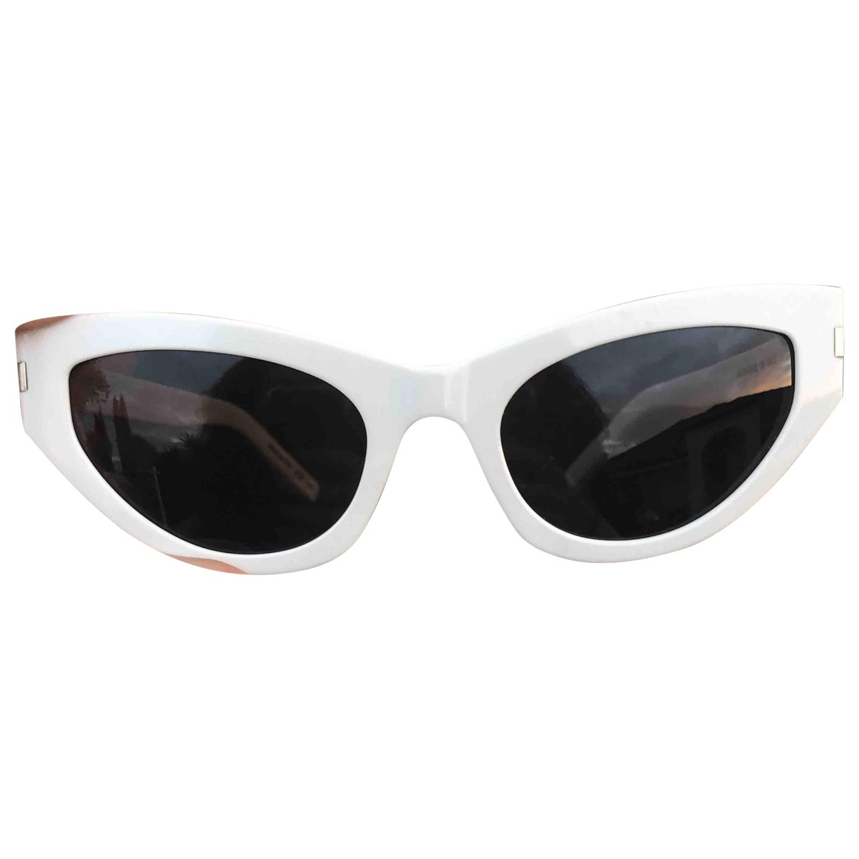 Saint Laurent \N Sonnenbrillen in  Weiss Kunststoff