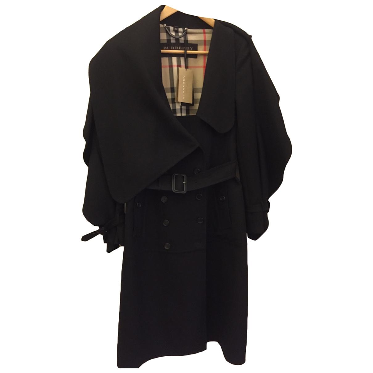 Burberry \N Black Wool coat for Women 8 UK