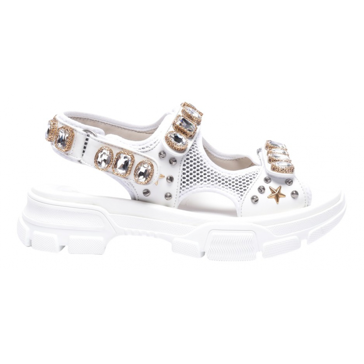 Gucci \N White Leather Sandals for Women 42 EU