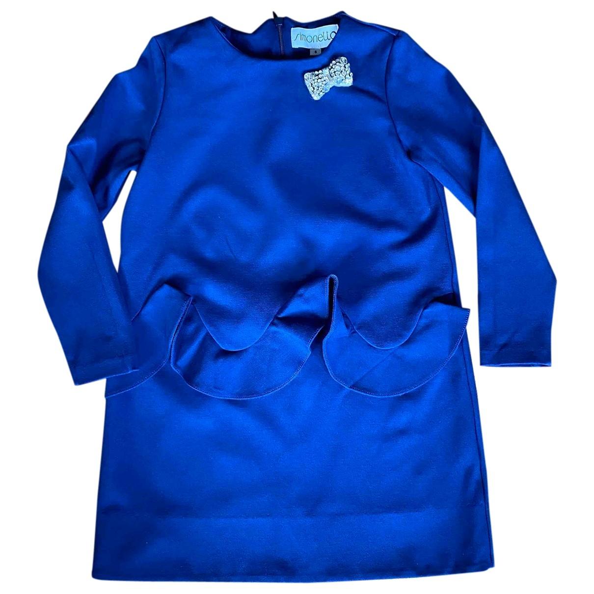 Simonetta \N Kleid in  Blau Viskose