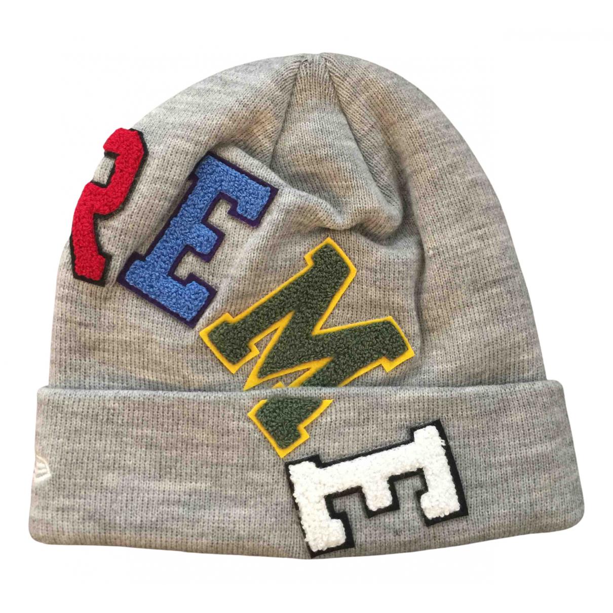 Supreme - Chapeau & Bonnets   pour homme en laine - gris