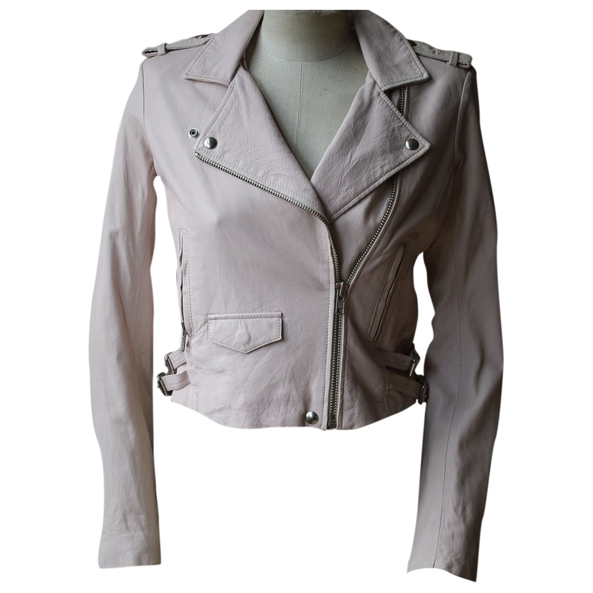 Iro N Pink Leather jacket for Women 38 FR