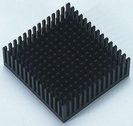 Fischer Elektronik Heatsink, Universal Square Alu, 9.2°C/W, 38.1 x 37.92 x 16.51mm, Adhesive Foil, Conductive Foil, Black