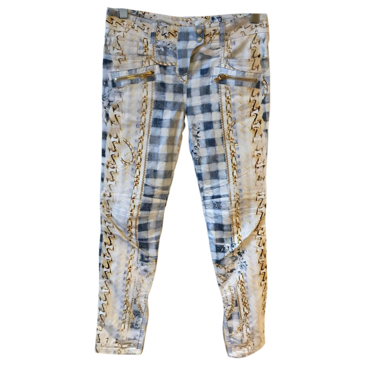 Balmain \N Multicolour Cotton - elasthane Jeans for Women 40 FR