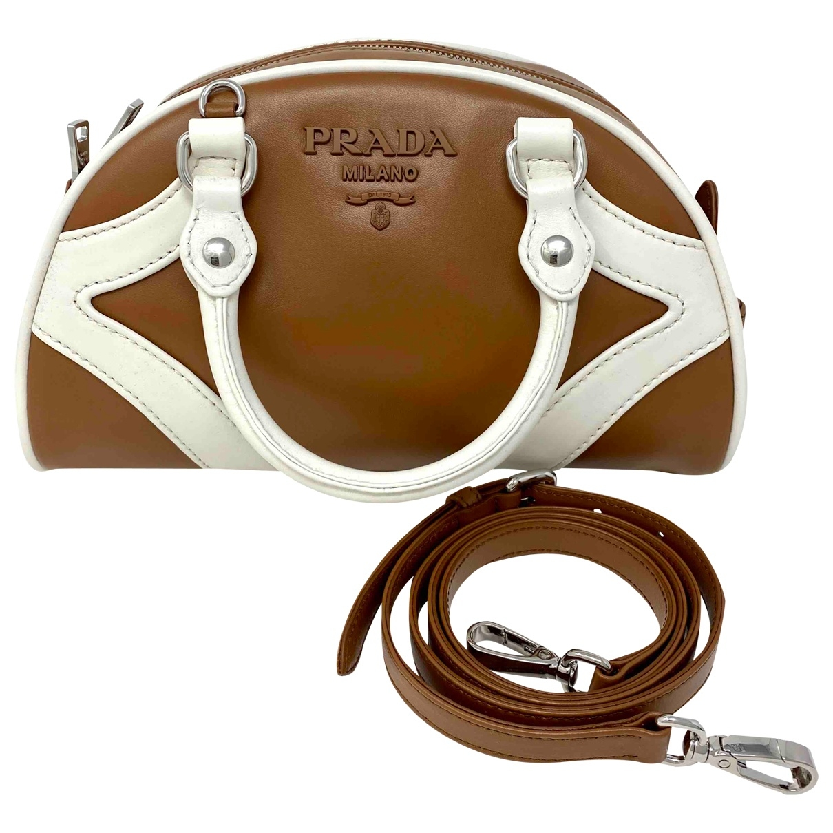 Prada N Brown Leather handbag for Women N