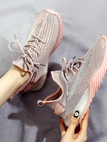 Yoins Breathable Lace Up Sneakers