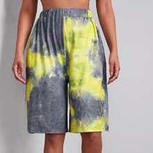 Bermuda Shorts mit elastischer Taille und Batik