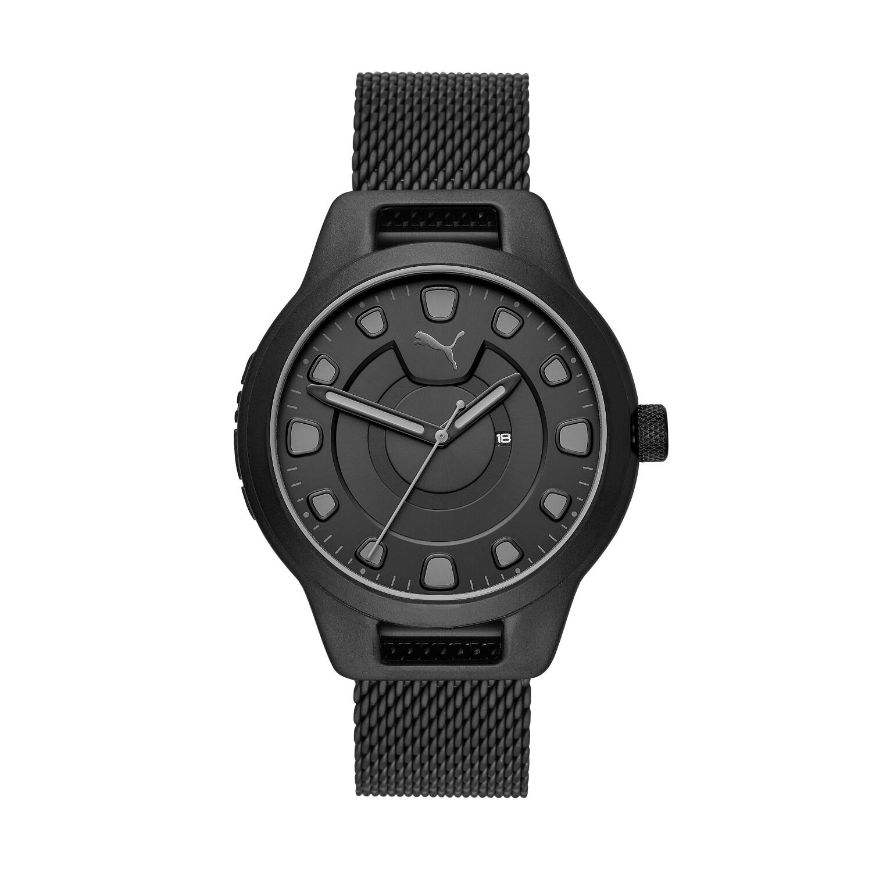 Puma Mens Reset P5007 Black Stainless-Steel Quartz Fashion Watch