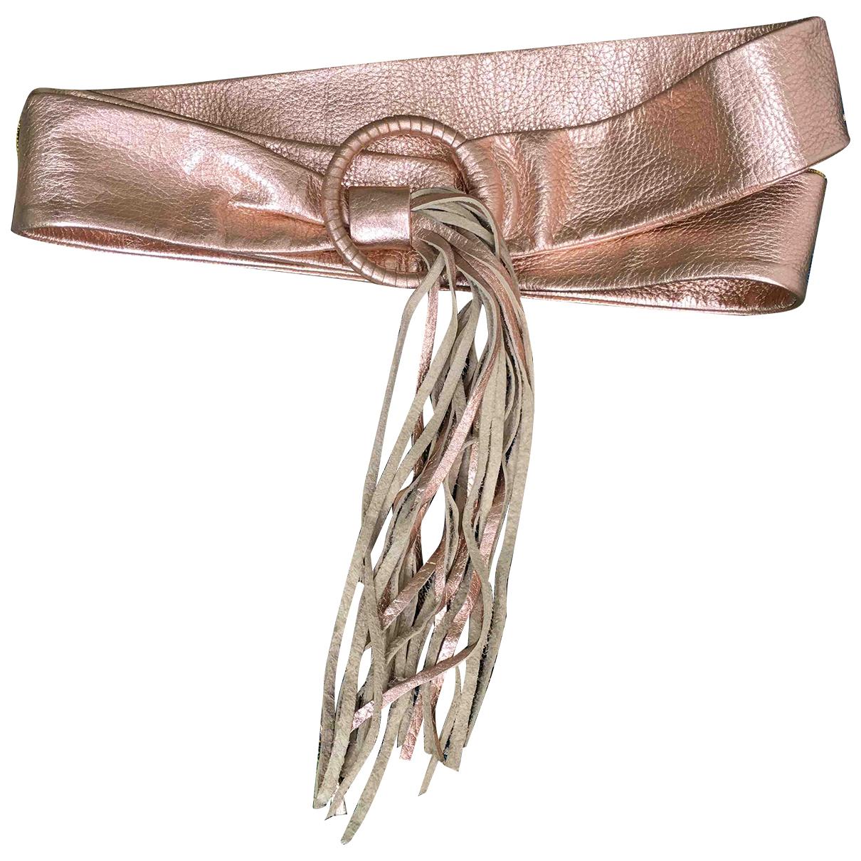 Jean Paul Gaultier \N Pink Leather belt for Women 90 cm
