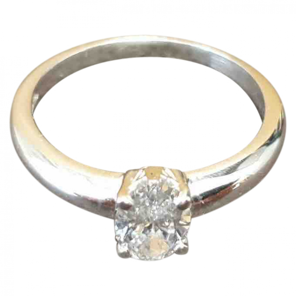 Non Signe / Unsigned Solitaire Ring in Platin