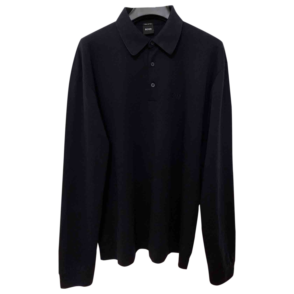 Boss \N Black Cotton Polo shirts for Men L International