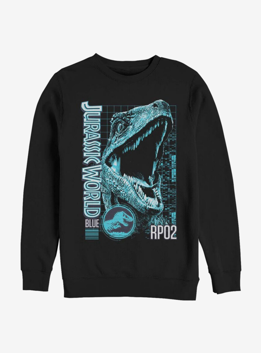 Jurassic World Blue Grid Sweatshirt