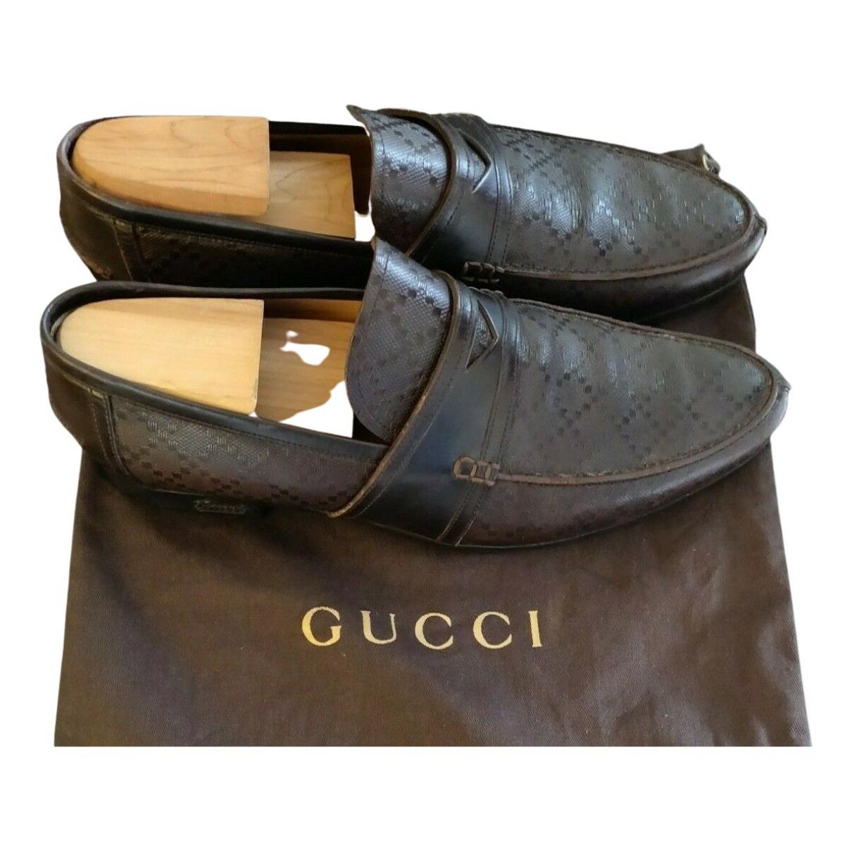 Gucci - Mocassins   pour homme en cuir - marron