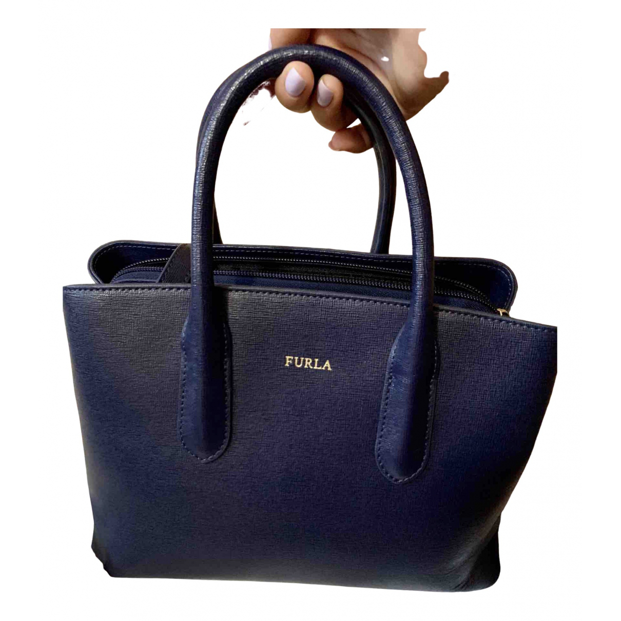 Furla \N Blue Leather handbag for Women \N