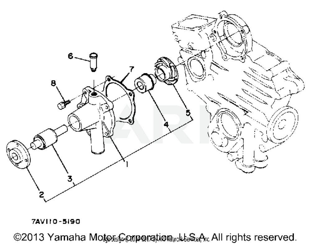 Yamaha OEM YF1-68517-34-30 GASKET,WATER PUMP