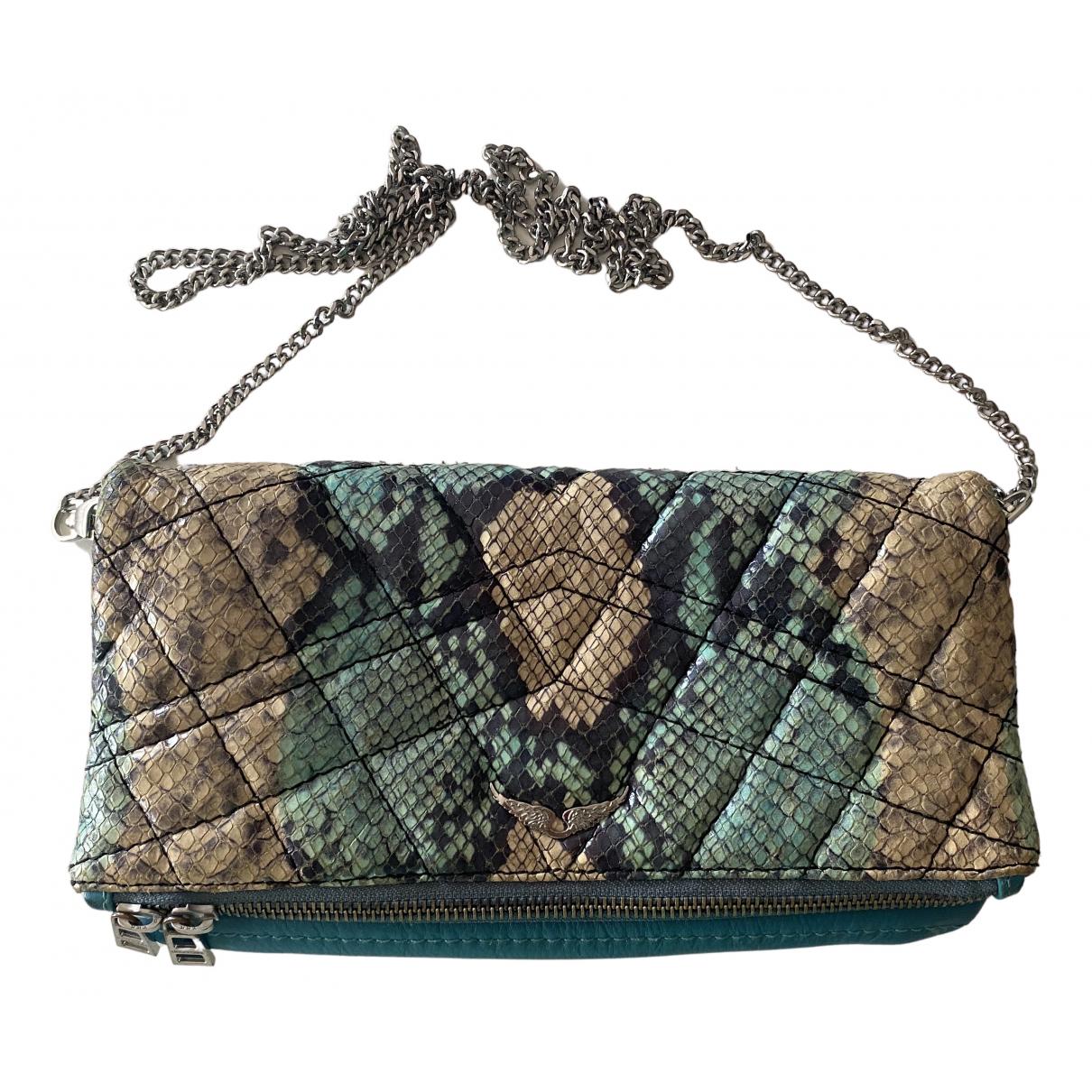 Zadig & Voltaire Rock Blue Leather handbag for Women N