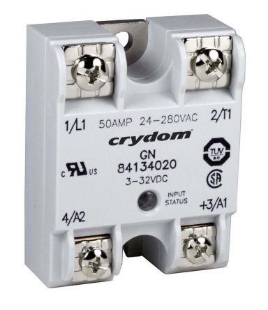 Sensata / Crydom 50 A rms Solid State Relay, Zero Crossing, Panel Mount, SCR, 660 V ac Maximum Load