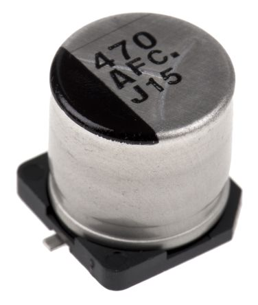 Panasonic 470μF Electrolytic Capacitor 10V dc, Surface Mount - EEEFC1A471P (5)