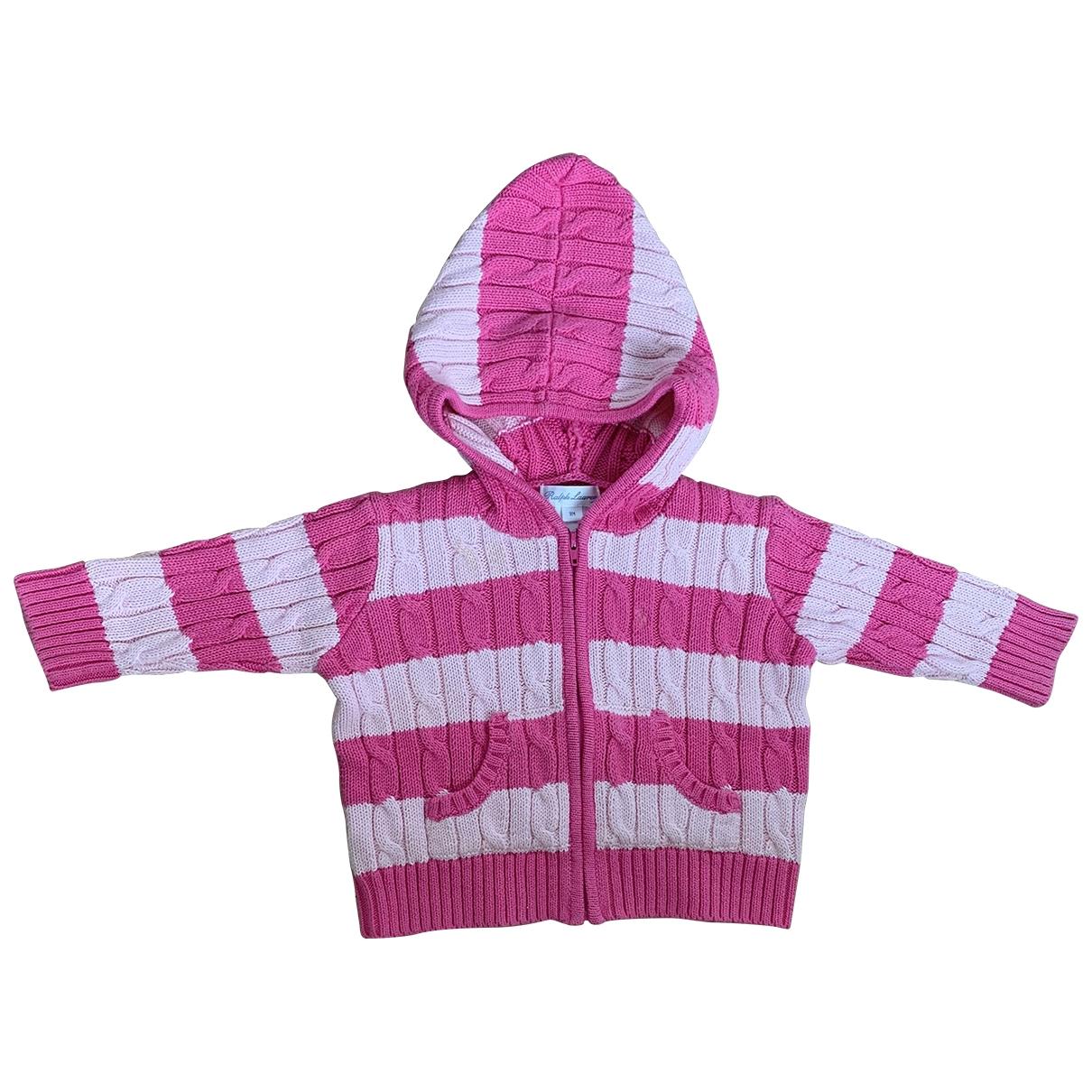 Ralph Lauren - Pull   pour enfant en coton - rose