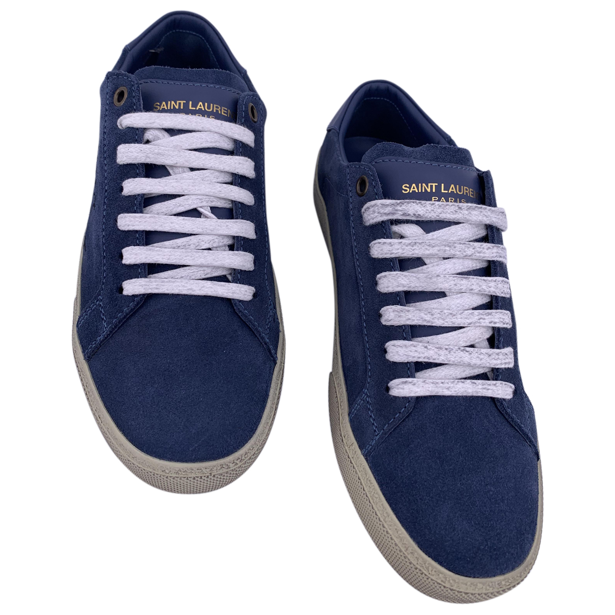 Yves Saint Laurent N Blue Suede Trainers for Women 37 IT